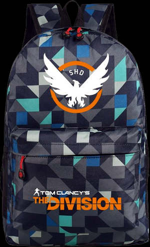 84e6796f9c3 Tom Clancy's The Division Backpack With SHD Logo. - Colors: Black, Blue  (shown) & Red